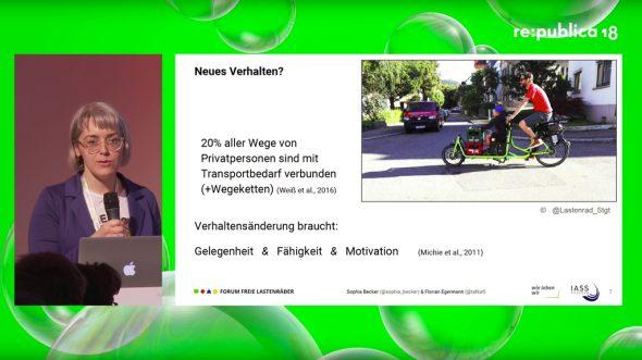 re:publica 2018 – Die Verkehrswende selber machen. Lastenrad-Sharing